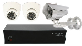 4 Camera Installed Surveillance Package image